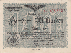 100 Milliarden (100 000 000 000) Mark 1923 (25. X.)