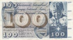 Image #1 of 100 Franken 1967 (30. VI.) - 1