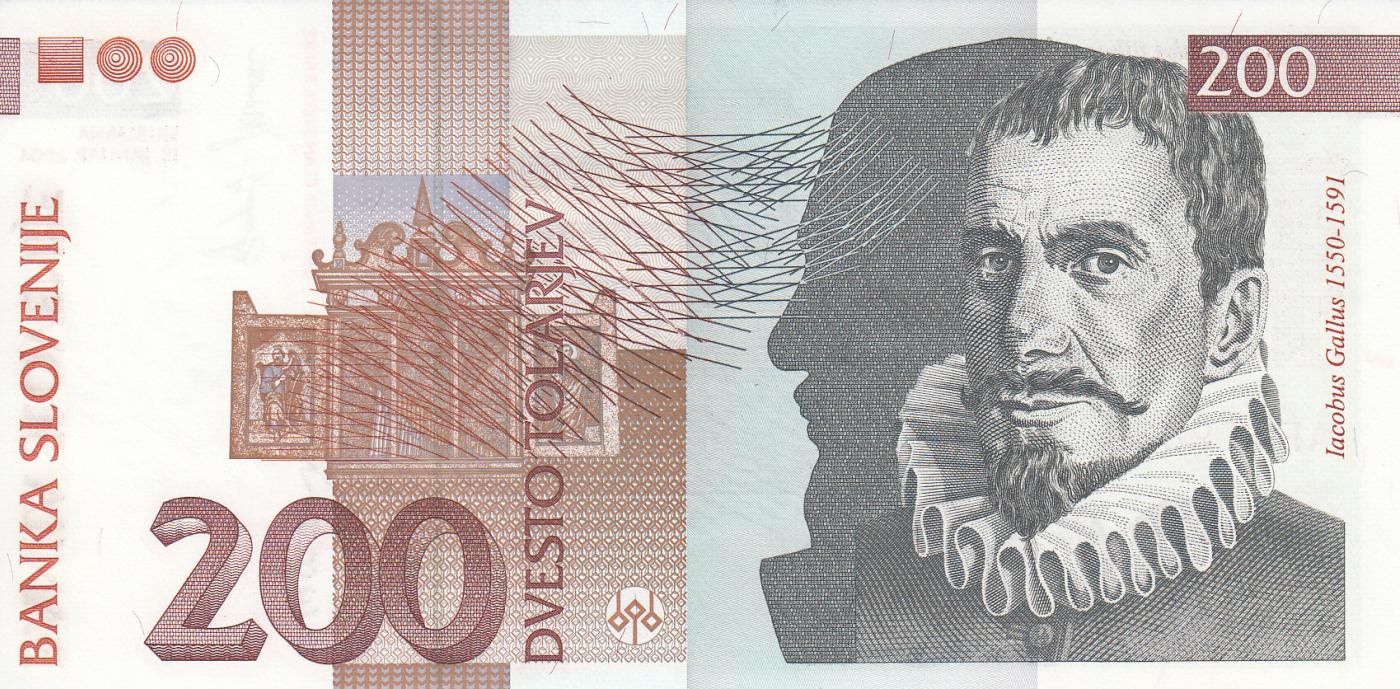 10-200 Tolarjev 1992-2004 P 11 12 13 15d SLOVENIA Set of 4 Notes UNC