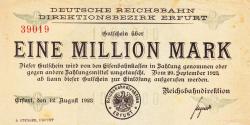 Image #1 of 1 Million (1 000 000) Mark 1923 (12. VIII.)