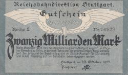 Image #1 of 20 Milliarden (20 000 000 000) Mark 1923 (19. X.) - Reihe 2