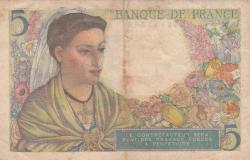 Image #2 of 5 Francs 1943 (2. VI.)