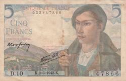 Image #1 of 5 Francs 1943 (2. VI.)