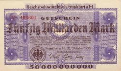Image #1 of 50 Milliarden (50 000 000 000) Mark 1923 (22. X.)