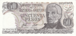Image #1 of 50 Pesos ND (1976-1978) - signatures Enrique José Porta/ Adolfo César Diz