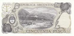 Image #2 of 50 Pesos ND (1976-1978) - signatures Enrique José Porta/ Adolfo César Diz