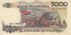 5000 Rupiah 1992/1996
