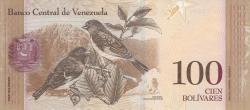 Imaginea #2 a 100 Bolivares 2015 (23. VI.)