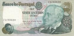 Image #1 of 20 Escudos 1978 (13. IX.) - signatures Emílio Rui da Veiga Peixoto Vilar / Joaquim Cavaqueiro Mestre (2)