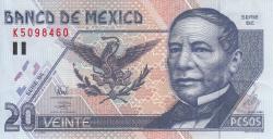Image #1 of 20 Pesos 1998 (17. III.) - Serie BE