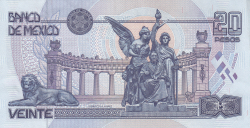 Image #2 of 20 Pesos 1998 (17. III.) - Serie BE