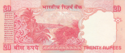 Image #2 of 20 Rupees ND (2002) E - signature Y. V. Reddy (89)