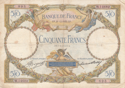 Image #1 of 50 Francs 1933 (21. XII.)