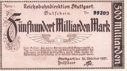 Image #1 of 500 Milliarden (500 000 000 000) Mark 1923 (30. X.)
