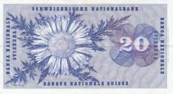 Image #2 of 20 Franken 1970 (5. I.) - signatures Rudolf Aebersold/ De. Brenno Galli/ Dr. Fritz Leutwiler