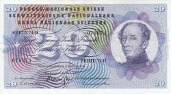 Image #1 of 20 Franken 1970 (5. I.) - signatures Rudolf Aebersold/ De. Brenno Galli/ Dr. Fritz Leutwiler