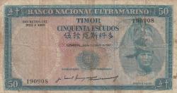 Imaginea #1 a 50 Escudos 1967 (24. X.) - semnături José Manuel Passeiro / Francisco José Vieira Machado