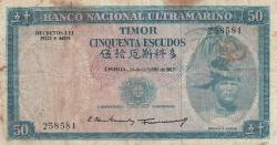 Imaginea #1 a 50 Escudos 1967 (24. X.) - semnături Luís Esteves Fernandes / Francisco José Vieira Machado
