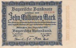 Image #1 of 10 Millionen (10 000 000) Mark 1923 (1. IX.)