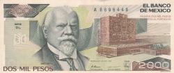 Image #1 of 2000 Pesos 1989 (28. III.) - SERIE DL