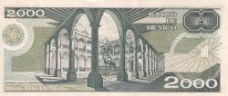 Image #2 of 2000 Pesos 1989 (28. III.) - SERIE DL
