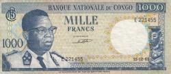 Image #1 of 1000 Francs 1961 (15. XII.)