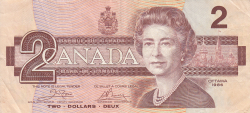 Image #1 of 2 Dollars 1986 - signatures Crow-Bouey