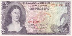 Imaginea #1 a 2 Pesos Oro 1973 (1. I.)