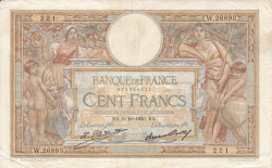 Image #1 of 100 Francs 1930 (9. X.)