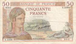Imaginea #1 a 50 Franci 1935 (5. XII.)