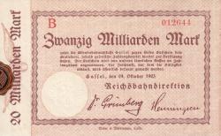 Image #1 of 20 Milliarden Mark 1923 (24. X.)