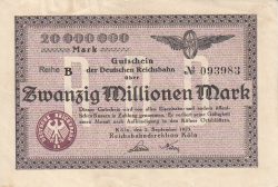 Image #1 of 20 Millionen Mark 1923 (2. IX.)