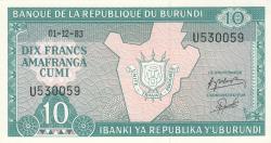 Image #1 of 10 Francs 1983 (1. XII.)
