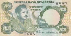 Imaginea #1 a 20 Naira ND (1984-2000)