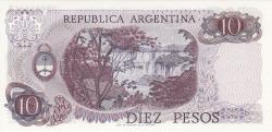 Imaginea #2 a 10 Pesos ND (1970-1973) - semnături Rodolfo A. Mancini/ Alfredo Gómez Morales