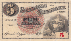 Image #1 of 5 Kronor 1939 - 2