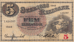 Image #1 of 5 Kronor 1946 - 3