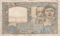 Image #1 of 20 Francs 1941 (30. X.)