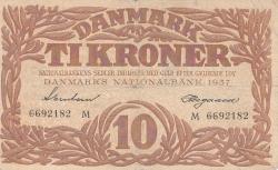 Imaginea #1 a 10 Kroner 1937 - Serie M
