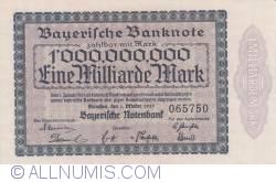 1 Milliarde (1 000 000 000) Mark 1923 (1. X.)
