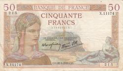 Image #1 of 50 Francs 1939 (28. IX.)