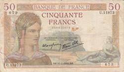Image #1 of 50 Francs 1940 (11. I.)