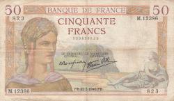 Image #1 of 50 Francs 1940 (22. II.)