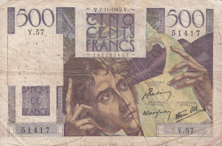 Image #1 of 500 Francs 1945 (7. XI.)