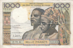 Image #1 of 1000 Francs ND