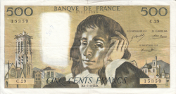 Image #1 of 500 Francs 1972 (6. I.)