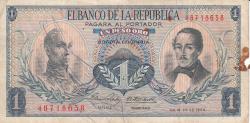 Imaginea #1 a 1 Peso Oro 1966 (20. VII.)