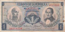 Imaginea #1 a 1 Peso Oro 1970 (1. V.)