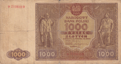 Image #1 of 1000 Zlotych 1946 (15. I.)