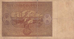 Image #2 of 1000 Zlotych 1946 (15. I.)